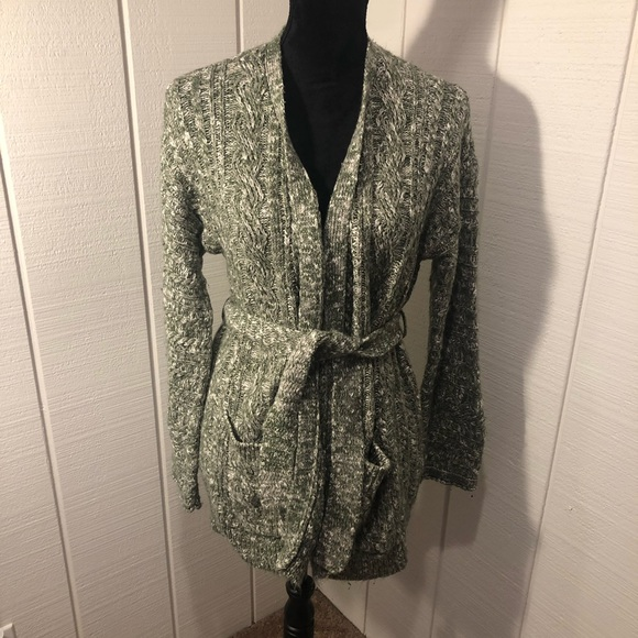 Forever 21 Sweaters - 💚Green Wool Belted Cardigan💚